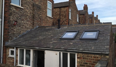Slate re-roof with Velux windows York